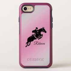 Equestrian Jumper Personal Pink iPhone Case - girly gift gifts ideas cyo diy special unique