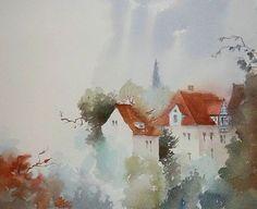 Dream gardens by ~angora39 #watercolor #loose