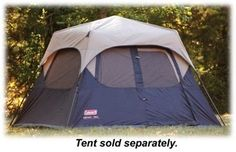 Cool! :)) Pin This & Follow Us! zCamping.com is your Camping Product Gallery ;) CLICK IMAGE TWICE for Pricing and Info :) SEE A LARGER SELECTION of 5-6 persons camping tents at http://zcamping.com/category/camping-categories/camping-tents/5-to-6-person-tents/ - #hunting #campingtents #camping #campinggear - Coleman Rainfly for Coleman 6-Person Instant Tent « zCamping.com