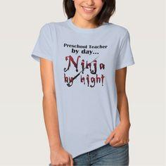 Preschool Teacher Ninja T Shirt, Hoodie Sweatshirt