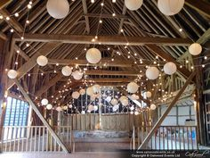 Delighted with the outcome of this gorgeous design we did last week - festoon canopy with ivory and white paper lanterns. #Wedding #lighting with style!