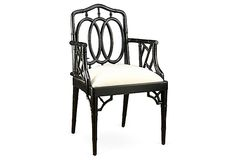 Bamboo Armchair, Black on OneKingsLane.com