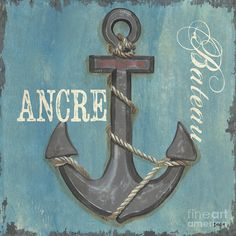 Arrgggh, weigh the anchors. We be sailing into our journey! Pirates! (La Mer Ancre Painting)