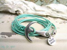 Wickelarmbänder - Wickelarmband ★ Leder ★ Anker türkis - ein Designerstück von…