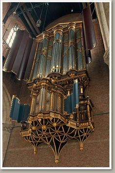 Pieterskerk - Leiden van Hagerbeer, 1643 Sacred Architecture, Religious Architecture, Music Stuff, Music Things, Cool Pipes, Organ Music, Music Studio Room, Cathedral Basilica, Sound Art