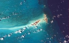 Big and Little Ambergris Cay, on the blue edge of the abyss. Picture: Chris Hadfield