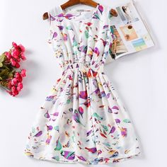 Summer Women Dress Vestidos Print Casual Low Price China Clothes Femininas Roupas Office Ladies Female Bohemian Mini Beach Dress #dress #imported #New