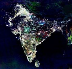 Yes, it's India, but it's not a photo captured from space during Diwali night. (Credit: NASA)
