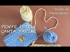Crochet bag pattern tshirt yarn Ideas for 2019 Crochet Baby Beanie, Crochet Kids Hats, Crochet Baby Booties, Crochet Purses, Crochet Bags, Crochet Cowl Free Pattern, Crochet Toys Patterns, Diy Crochet Pillow, Tshirt Garn