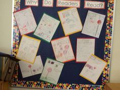 The Kindergarten students write what do readers do during Readers' Workshop.