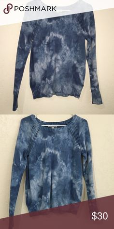 American Eagle tiedye knit sweater NWOT American Eagle tie dye knit sweater with little cut outs on the shoulders and sides American Eagle Outfitters Sweaters Crew & Scoop Necks