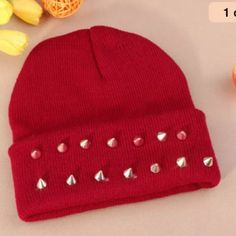 Red spike hat NWOT Accessories Hats