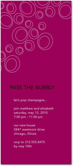 VIP party invite