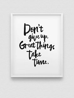 don't give up print // inspirational print // by spellandtell