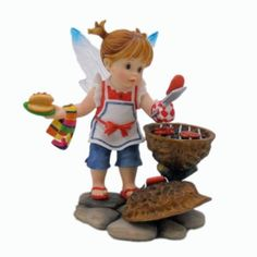 Amazon.com: My Little Kitchen Fairies - Father's Day Cookout Fairy Figurine 4013237: Home & Kitchen