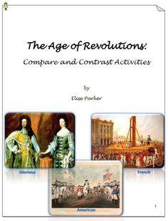 compare contrast essay american french revolution