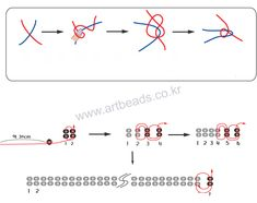 Pattern for necklace Coloured Line