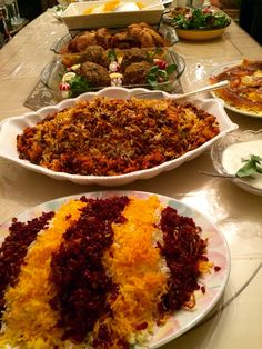 Devious #PersianFood dinner. All made by my friend Parinaz S.