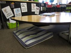 lowered table for guided reading - KindergartenWorks
