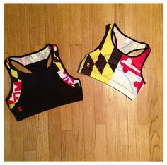 Maryland flag sports bra! Maryland pride!