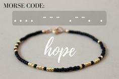 Hope Morse Code Bracelet