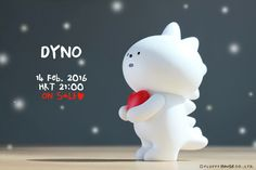 DYNO is a lonely monster waiting for somebody to love. His skin was colorful but it turned completely white after years of waiting. He waits until his species extinct but nobody has ever responded. Yet, he has not given up his hope. He just keeps on waiting for someone he could love wholeheartedly.   Now Dyno is coming to Fluffy House on his birthday on 14 Feb, 2016. Would you like to accept his heart and be his only one?    http://fluffyhouse.bigcartel.com/product/dyno