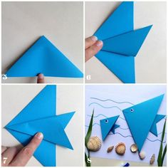 How to get children folding EASY ORIGAMI TULIPS. A great starting origami with only a few steps. Origami is a … Origami Simple, Easy Origami For Kids, Useful Origami, Origami Fish Easy, Origami Star Box, Origami Paper, Origami Hearts, Dollar Origami, Origami Ball