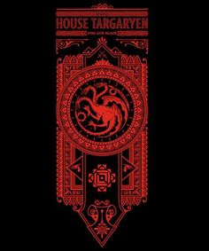 Game of thrones qwertee design - could be used for cross stitch
