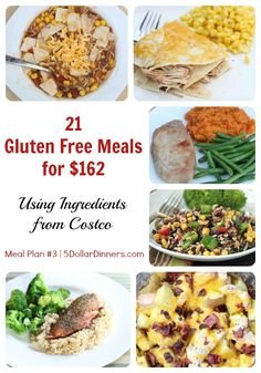 Gluten-Free Costco Meal Plan The Easiest Freezer Cooking Ive Ever Done – Comida: mesas vegetarianas Gluten Free Costco, Gluten Free Food List, Gluten Free Meal Plan, Free Meal Plans, Foods With Gluten, Gluten Free Cooking, Gluten Free Recipes, Healthy Recipes, Drink Recipes