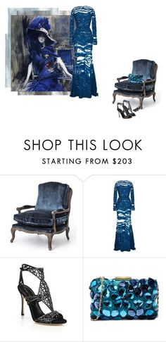 """""""A Roccocò story"""" by theitalianglam ❤ liked on Polyvore featuring Elie Saab, Sergio Rossi and Love Moschino"""