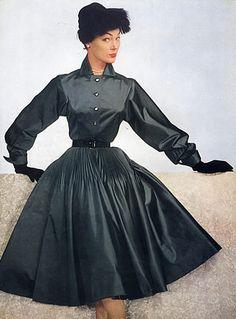 Jeanne Lanvin 1951 Taffetas Dress