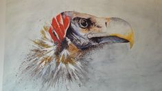 African Vulture print. Sold Out