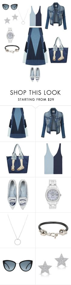 """Untitled #290"" by mary-en ❤ liked on Polyvore featuring Maje, Staud, Chiara Ferragni, Rolex, Roberto Coin, Alexander McQueen, Diamond Star and city"