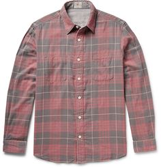 Faherty - Belmar Reversible Checked Cotton-Flannel Shirt | MR PORTER