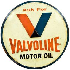 Keep your car running smoothly with the right kind of oil. And keep your walls decorated with the right kind of decor. Valvoline Embossed Tin Sign features slight embossing on a distressed ivory backg