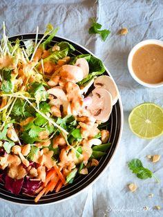 Kochfrosch Asiatischer Salat mit Erdnussdtrssing