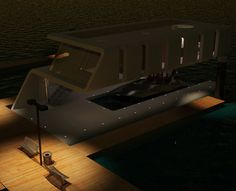 This floating home features a private dock which is perfect for any yacht owner. Although, yes, the mooring fee might become more expensive than before, but at least now yacht owners can have space of their own as currently there's no commercial marina that provides facilities such as VIP lounge, hotel, restaurant and so on.