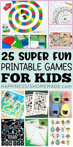 25 Fun Printable Games for Kids - Happiness is Homemade