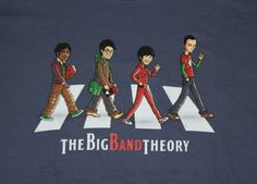 """The Big Band Theory"" de Tony Centeno - Consíguela en http://www.pampling.com/ficha_producto.php?id_producto=618  #TBBT #TheBigBangTheory #BigBangTheory #Beatles #TheBeatles #Music #Funny #AbbeyRoad #Tshirt #Tee #Dailytee #Fashion #Creative #Design #Cool #Camiseta #Pampling"