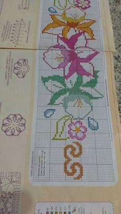 Easy Cross Stitch Patterns, Simple Cross Stitch, Cross Stitch Borders, Cross Stitch Flowers, Cross Stitch Charts, Cross Stitching, Cross Stitch Embroidery, Hand Embroidery, Straight Stitch