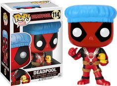 Pop! Marvel - Deadpool - Deadpool [Bath Times] This cracks me up? He wears his suit in the tub? Why does he need the blue shower cap then?! Love it!