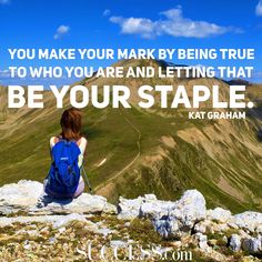 """""""You make your mark by being true to who you are and letting that be your staple."""" —Kat Graham"""