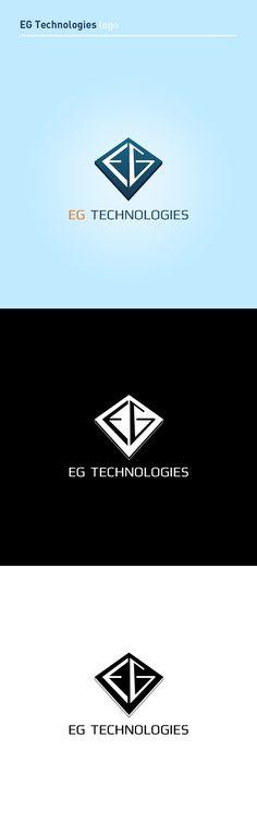 """EG Technologies"" logo by Dmitrij Paškevič, via Behance"