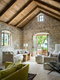 This is my one story crusty dream in the south of France. With a pool and patio . - Stone Design Masonry, LLC bauernhof This is my one story crusty dream in the south of France. With a pool and patio … – Stone Design Masonry, LLC Stone Cottages, Stone Houses, Country Cottages, My Dream Home, Beautiful Homes, House Plans, New Homes, House Design, Design Shop