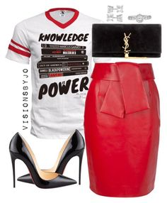 A fashion look from February 2016 featuring Balenciaga skirts, Christian Louboutin pumps and Yves Saint Laurent clutches. Browse and shop related looks. Fashion Casual, Look Fashion, Casual Chic, Teen Fashion, Womens Fashion, Fashion Fall, London Fashion Weeks, New York Fashion, Chic Outfits