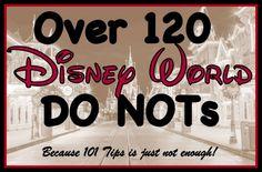 Disney World Do Nots