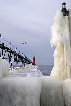 Iced Over, Grand Haven, Michigan