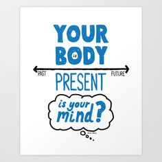 Living In The Present Art Print by Doug Neill - $16.00