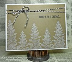 Simply Elegant DIY Christmas Card with Lovely as a Tree Stamps . . . Details on my blog! www.stampingeorgia.com