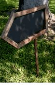 """24"""" Two Sided Wood Framed Blackboard Arrow Sign  with stake $24"""